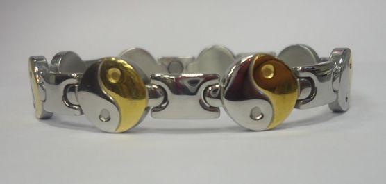 Магнитный стальной браслет Инь-Ян