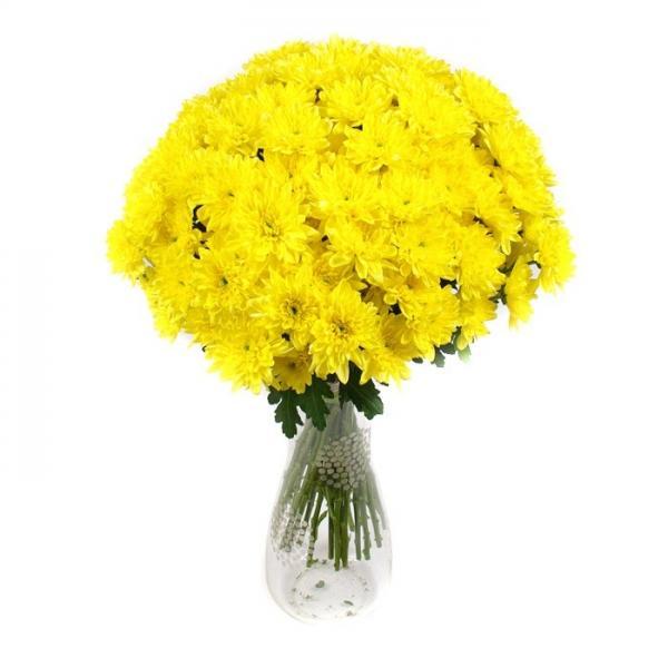 """Букет """"25 желтых хризантем"""" (Зембла)"""