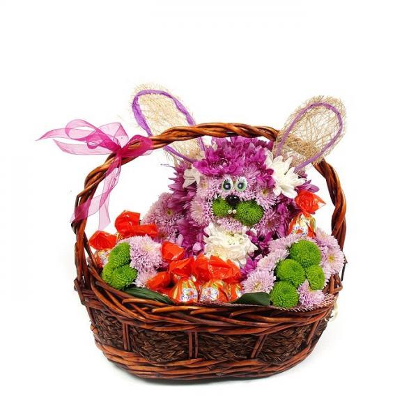 Заяц в корзинке