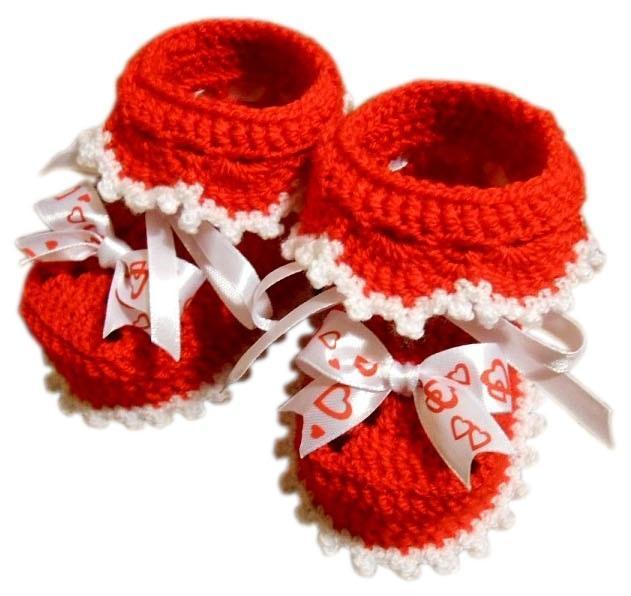 Фото Старая коллекция, Продажа готовых вязаных изделий, Вязаные детские пинетки Детские пинетки красные
