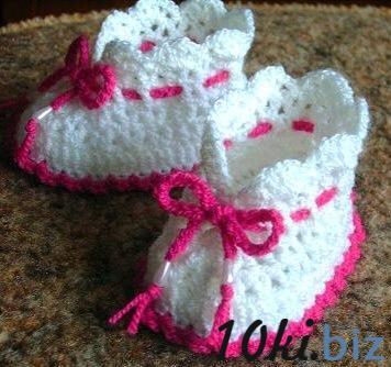 Детские пинетки белые с розовым купить в Симферополе - Детская одежда для мальчиков