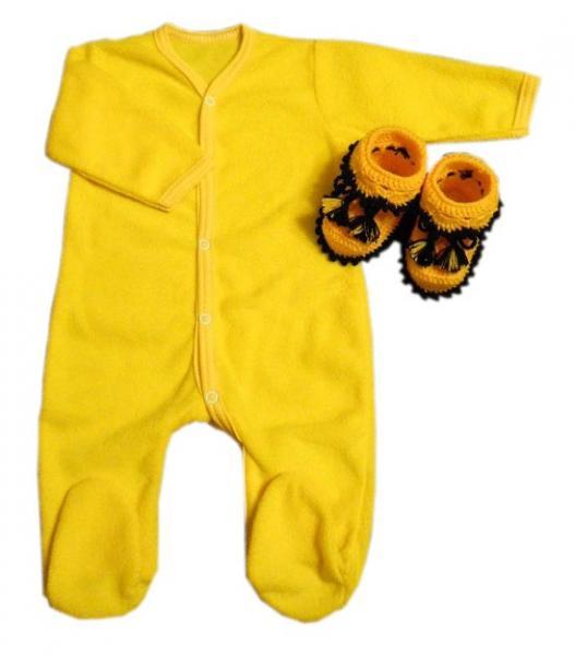 Детские пинетки желтые