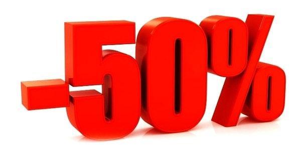 С 1 по 31 марта скидка 50% на все!!!