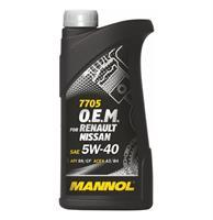 MANNOL  5W-40 O.E.M. for Renault Nissan синт. 1л