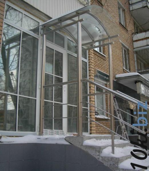 Навесы с элементами стекла Услуги по строительству в Казахстане