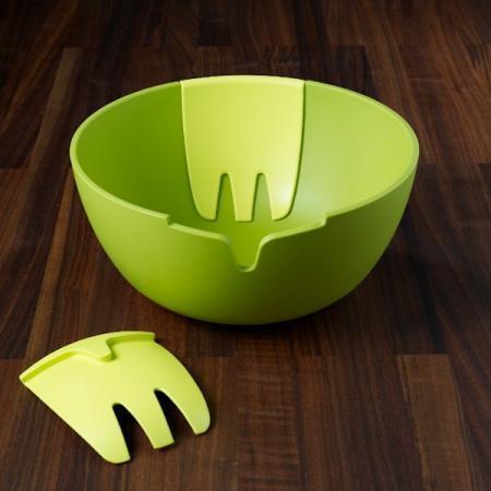 """Миска для салата """"Веселые ручки"""" зеленая"""