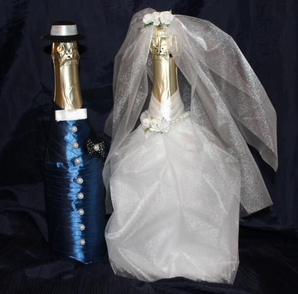 """Оформление Шампанского к свадьбе """"Жених и Невеста"""" 2"""