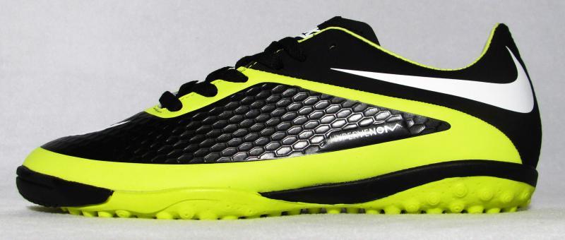 Сороконожки Nike Hypervenom черно-салатовые