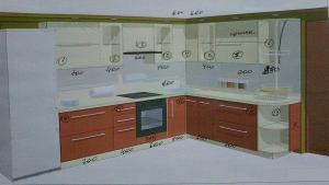 Фото Каталог кухонь, Кухни для 9 ти этажек Кухни для 9ти этажек 1