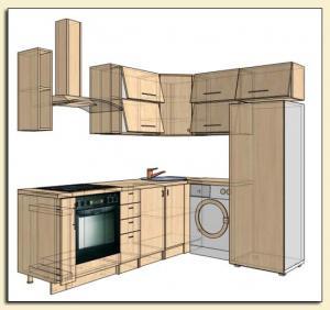 Фото Каталог кухонь, Кухни для 9 ти этажек Кухни для 9 ти этажки 3