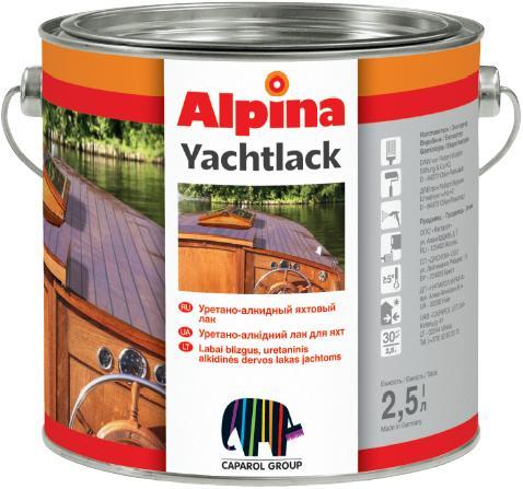 Алкид.лак Alpina Yachtlack URLT 2.5L