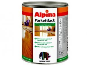 Фото Лаки Alpina Алкид.лак Alpina Parkettlack Seidenmatt  XRUP  10L