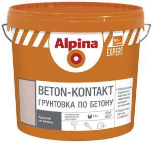 Фото Грунтовки Alpina Грунтовка НВ П 1 Д Alpina EXPERT Beton-Kontakt  15 кг