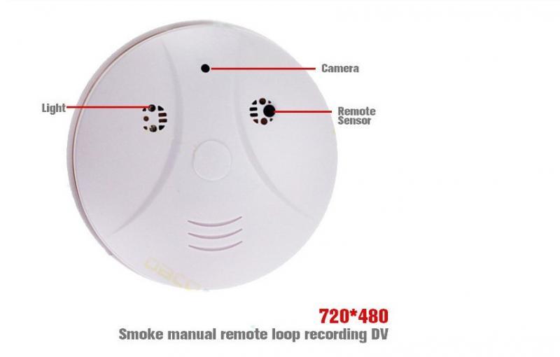 Датчик дыма (обманка) с детектором движения