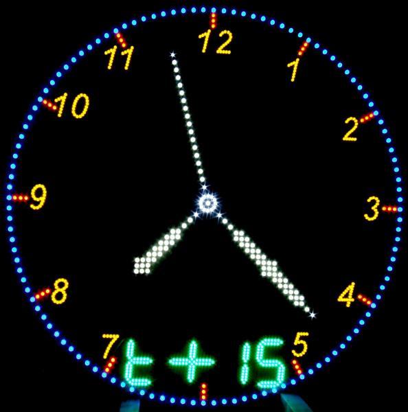 Часы электронные стрелочные