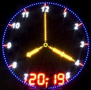 Фото Рекламно-информационные системы Часы электронные стрелочные