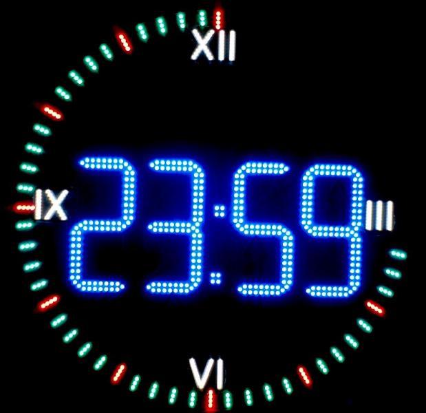 Часы светодиодные для улицы круглые светодиодные