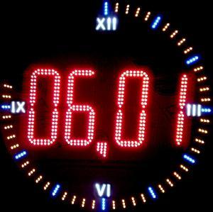 Фото Рекламно-информационные системы Часы светодиодные для улицы круглые светодиодные