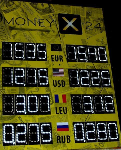 Табло курсов валют электронное светодиодное для улицы