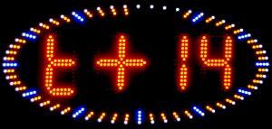Фото Рекламно-информационные системы Часы светодиодные для улицы овальные светодиодные