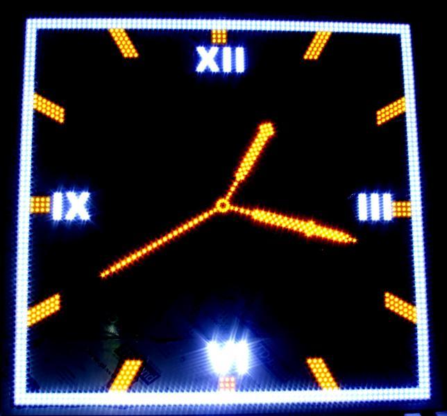 Часы для улицы электронные стрелочные