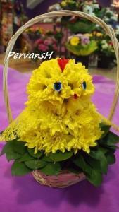 Фото Игрушки из цветов Цыпленок