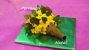 Фото Игрушки из цветов Ёжик