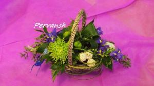 Фото Корзины из цветов и цветочные композиции Композиция № 4
