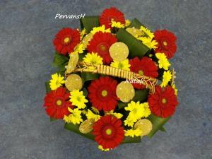 Фото Корзины из цветов и цветочные композиции Композиция №5
