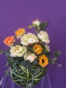 Фото Композиции из искусственных цветов Композиция №1