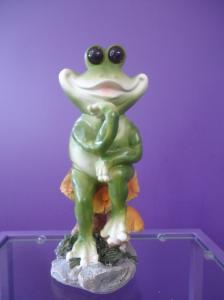 Фото Подарки и сувениры Ландшафтная фигурка-Лягушка на грибе