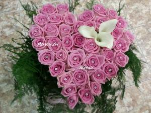 Фото Букеты, Сердца из цветов Сердце из цветов №2