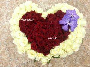 Фото Букеты, Сердца из цветов Сердце из цветов №3