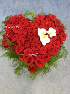 Фото Букеты, Сердца из цветов Сердце из цветов №5