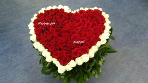 Фото Букеты, Сердца из цветов Сердце из цветов №4