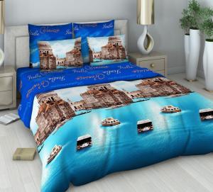 Фото Постельное белье, Из поплина, 1,5 спальное Василиса 1,5 Венеция