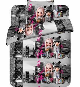 Фото Детский текстиль, Постельное белье, 1,5 спальное Кэт и Лизи