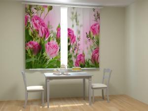 Фото 3D фотошторы, Для кухни Букет алых роз