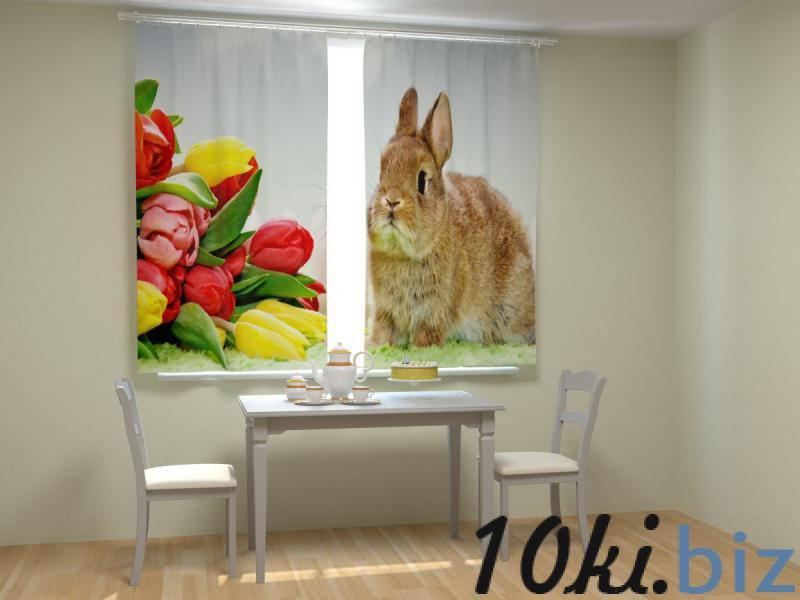 Кролик с тюльпанами Шторы, портьеры в России