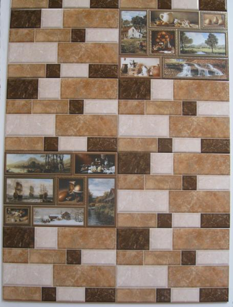 Плитка в ванную настенная GRANI 23*35 коричневая
