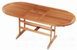 Стол раскладной из тихоокеанской черешни - Меранти - Столы кухонные на рынке Барабашова