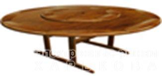 Стол из мербау круглый с вертушкой Gtu73518dm - Столы кухонные на рынке Барабашова