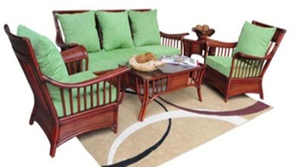 Комплект мебели COPABANA из натурального ротанга: 2 кресла+софа+столик