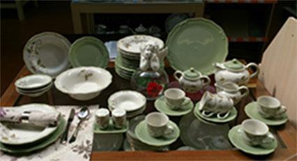 Сервиз столово-чайный Tiffany 44 предмета / 6 персон, оливковый, керамика