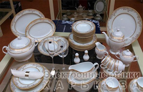 Сервиз для чая Paris 22 предмета / 6 персон, фарфор - Кофейные и чайные сервизы на рынке Барабашова