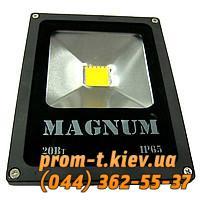 Фото Лампы накаливания, люминесцентные, натриевые, галогенные, энергосберегающие, светодиодные, Светотехника Magnum Светодиодный прожектор Magnum FL 10 LED 20 Вт 220В 4500К IP65