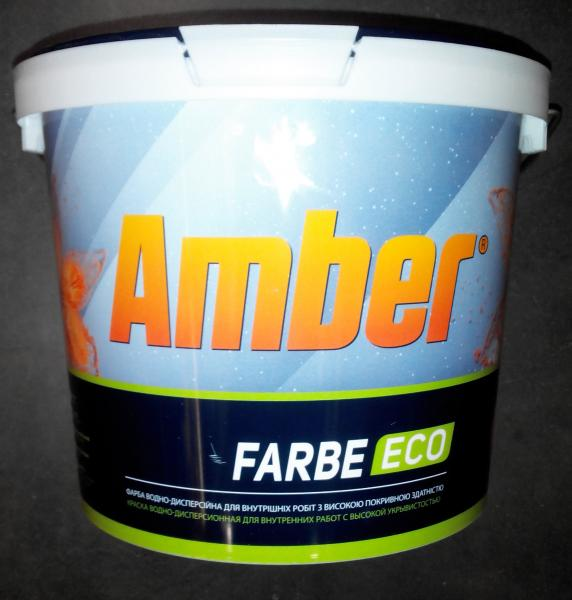 Краска водно-дисперсионная интерьерная  Farbe ECO Amber 10 л