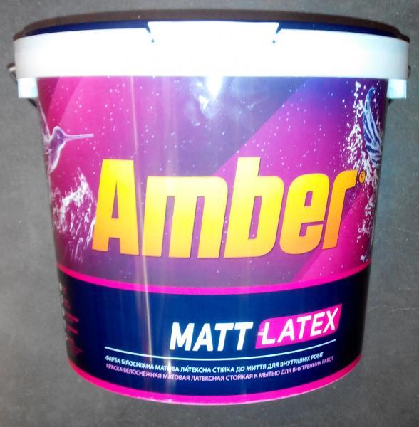 Краска водно-дисперсионная интерьерная Matt Latex Amber 3 л