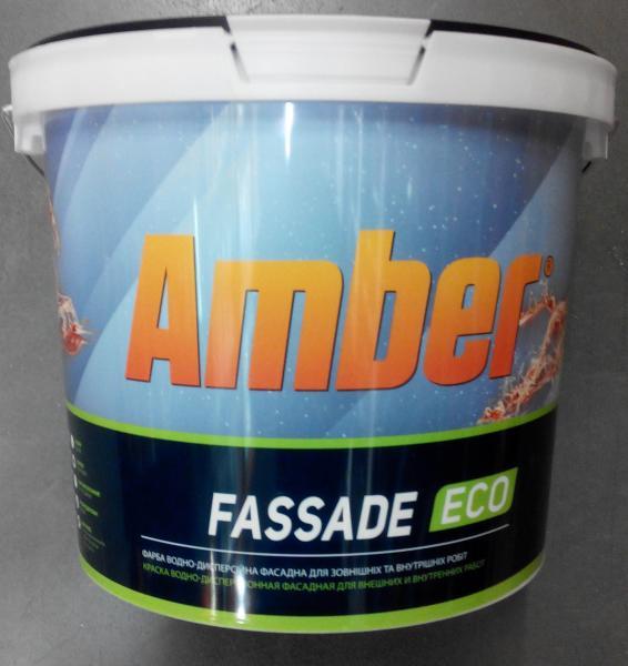 Краска водно-дисперсионная фасадная Fassade Eco Amber 10 л