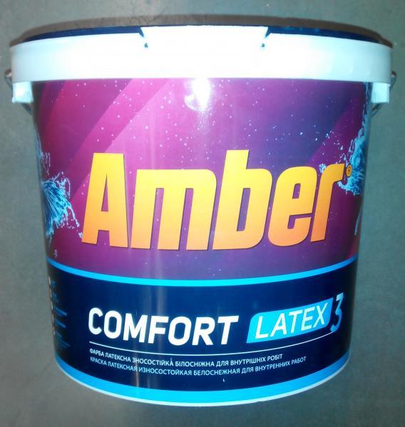 Краска стойкая к мытью Amber СOMFORT LATEX 3, 10 л